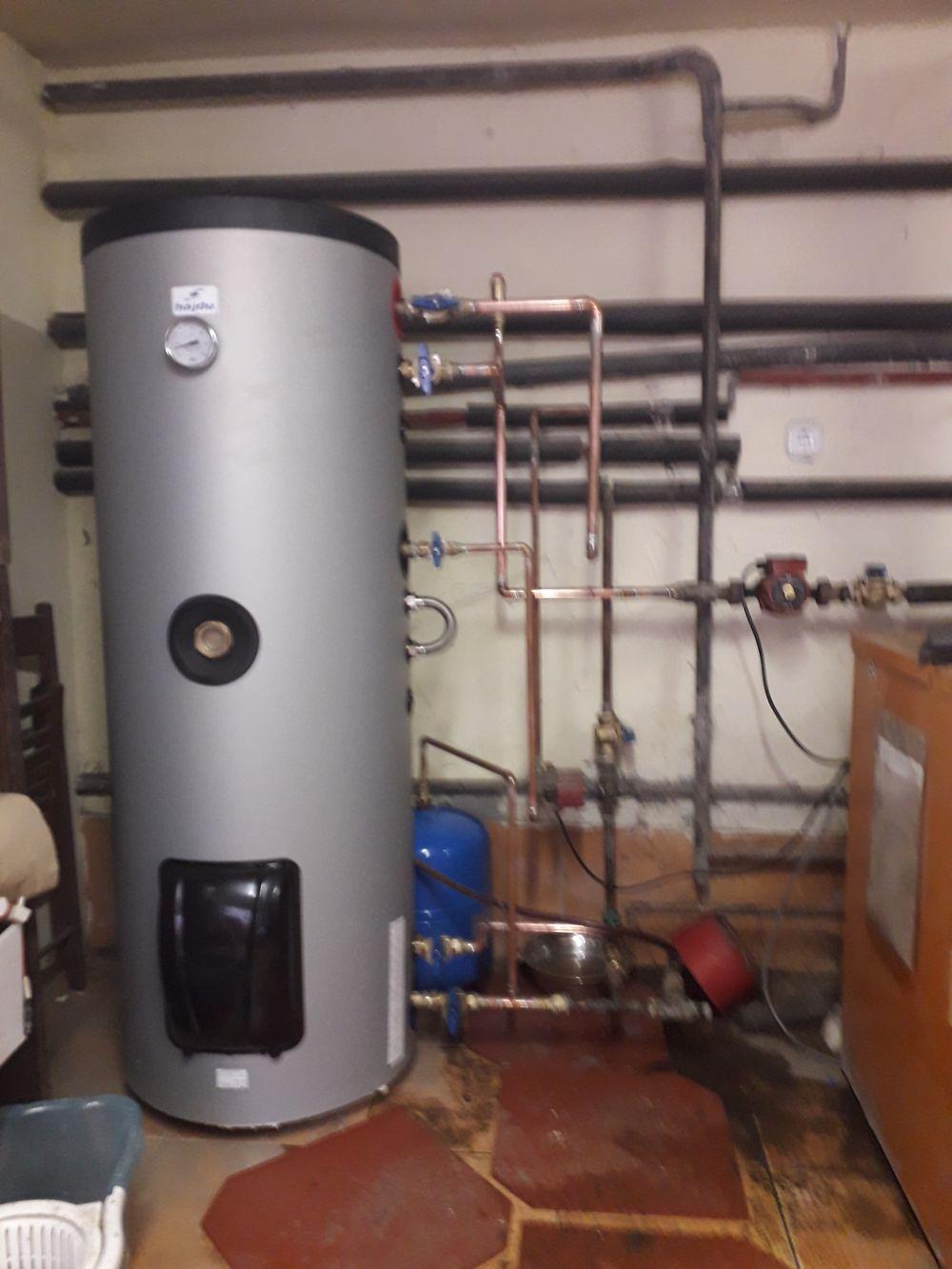 300 literes bojler csere kötés átalakítással